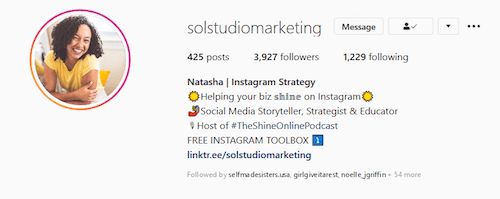 sol-studio-marketing-instagram-bio-link-example